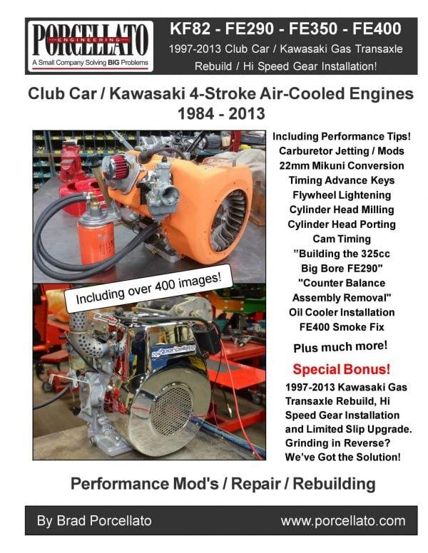 Club Car FE290, FE350, FE400 and KF82 Engine Book Cover Image.