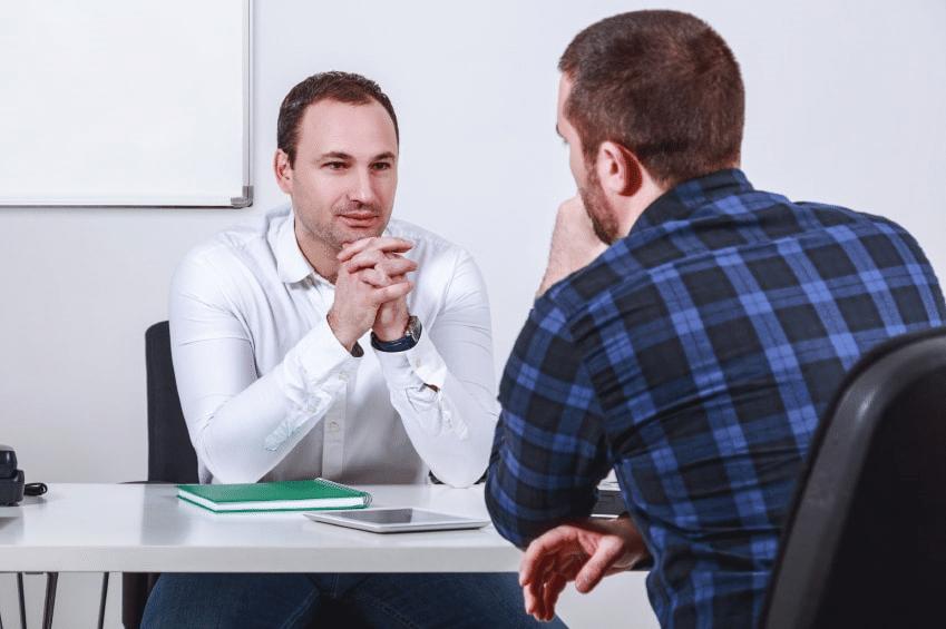 Blue collar job interview